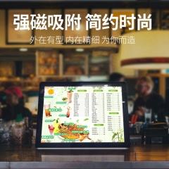 奶茶店点餐灯箱 菜单展示牌 led超薄水晶价目表点菜牌 磁吸发光菜谱灯箱 1平米 图中所示