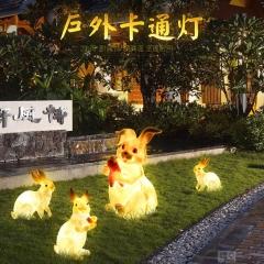 兔子灯户外卡通灯 动物灯 园林亮化灯 草坪灯饰灯具 发光创意灯景观灯