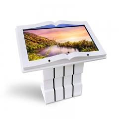 32寸虚拟电子翻书机书模感应虚拟翻书查询红外感应一体机投影翻书