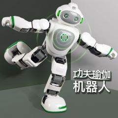 智能机器人 早教陪伴跳舞机器人 超大WIFI高科技17个舵机编程功夫儿童玩具