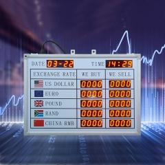银行外汇兑换汇率牌利率数码管LED显示屏电子看板遥控器编辑数字 L530*H370*W30mm 图示