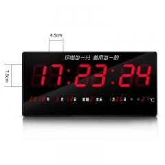 数显电子钟湿度家庭简易壁挂式电子钟表日历钟数字静音万年历卧室