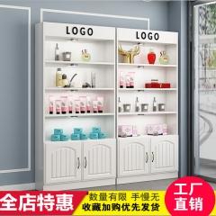 化妆品展示柜美容院美甲店柜子自由组合货柜欧式产品展示柜陈列柜 120*24*200cm