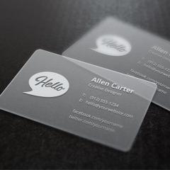 高档透明PVC卡片名片会员卡,镜面全透明,磨砂,哑面,光面,自定尺寸 PVC 90mm*45mm