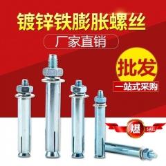 厂家直销镀锌膨胀螺丝超长加长铁膨胀螺栓8mm内胀 10x150一箱400个实际长度142