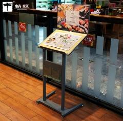 双层 菜单展示架立式菜谱支架立牌 单位资料夹海报架餐厅水牌 A34