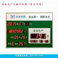 安全揭示牌 安全日历 安全生产计时牌 安全生产天数记录板 安全生产牌 60cm*85cm