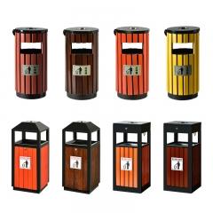 户外垃圾桶室外拉圾筒公园小区商用环卫分类环保垃圾箱果皮箱 36*36*80cm