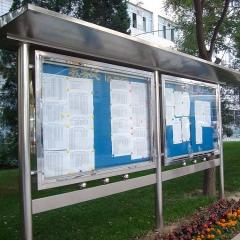 学校不锈钢宣传栏 户外不锈钢公告栏 单个箱体1.2m*1.8m 不锈钢