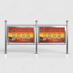 户外立式宣传栏 不锈钢宣传栏 单箱体1.2m*1.6m 不锈钢
