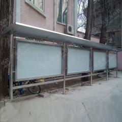 老干部活动中心不锈钢宣传栏 户外公告栏 单个箱体1.2m*1.8m 不锈钢