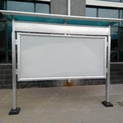 新型铝合金户外阅报栏 铝型材户外宣传栏 1.2*2.4m 带雨搭