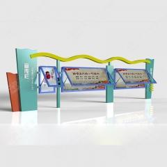 异型宣传栏 烤漆宣传橱窗 广告栏 文化展板 1延米 图示样式