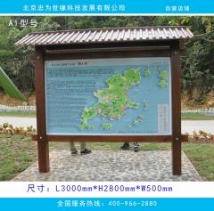 园林公示牌 简介牌 景区宣传栏展板 A1型号 图示样式